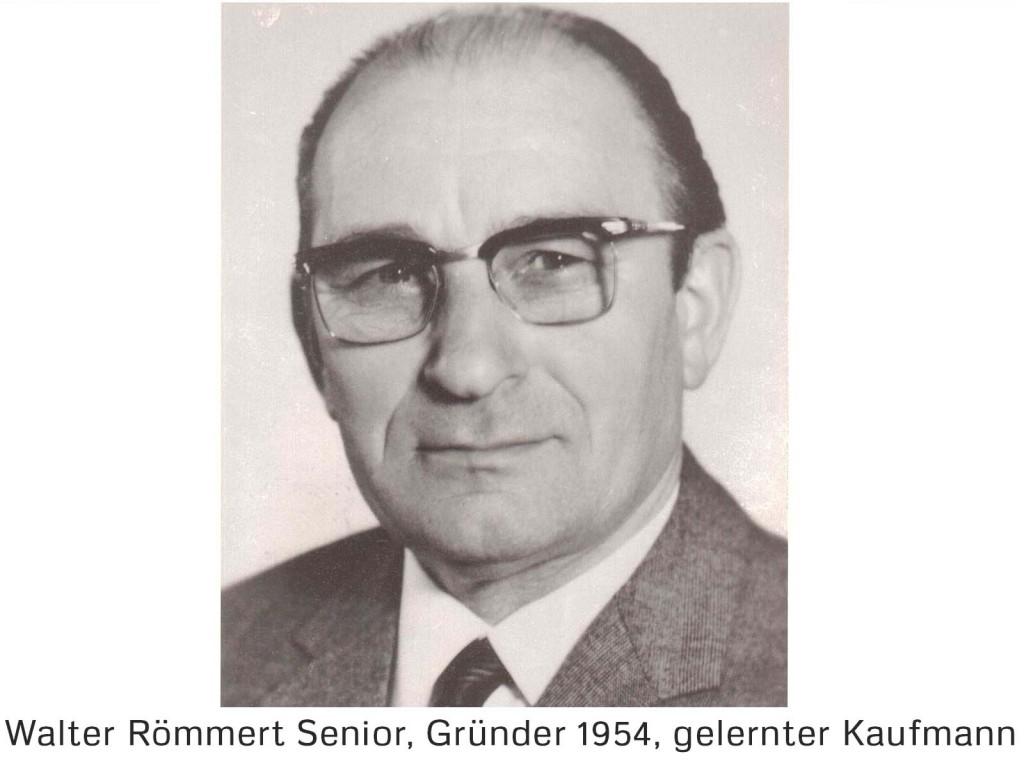 Gründer Walter Römmert